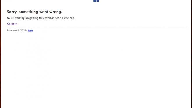 Reportan caída en los servidores de Facebook e Instagram